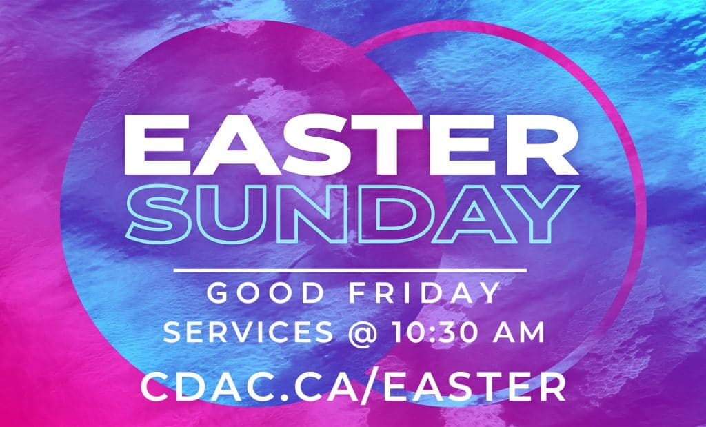 Easter Sunday and Good Friday services at 10:30am