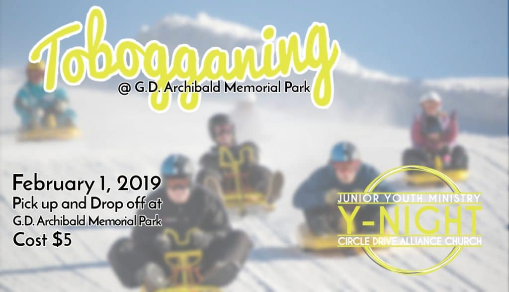 Fast and Furious sledding at G.D. Archibald Memorial Park, Feb 1, 2019